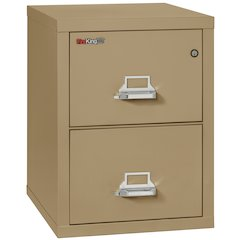 "2 Drawer Letter Size Filling Cabinet,  25"" depth, Sand"