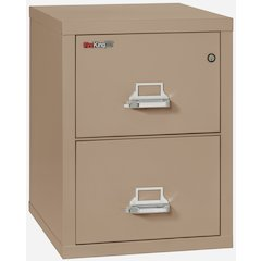 "2 Drawer Letter Size Filling Cabinet,  25"" depth, Taupe"