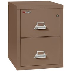"2 Drawer Letter Size Filling Cabinet,  25"" depth, Tan"