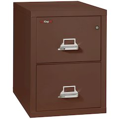 "Vertical File Cabinet, 2 Drawer Letter 31 1/2"" depth, Brown"