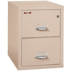 "Vertical File Cabinet, 2 Drawer Letter 31 1/2"" depth, Champagne"
