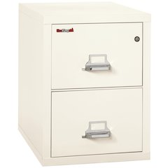 "Vertical File Cabinet, 2 Drawer Letter 31 1/2"" depth, Ivory White"