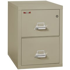 "Vertical File Cabinet, 2 Drawer Letter 31 1/2"" depth, Pewter"