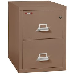 "Vertical File Cabinet, 2 Drawer Letter 31 1/2"" depth, Tan"