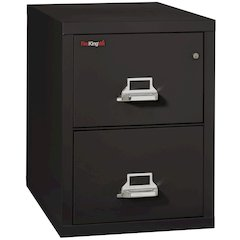 "Vertical File Cabinet, 2 Drawer Legal  31 1/2"" depth, Black"