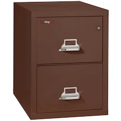 "Vertical File Cabinet, 2 Drawer Legal  31 1/2"" depth, Brown"