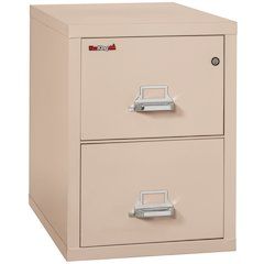 "Vertical File Cabinet, 2 Drawer Legal  31 1/2"" depth, Champagne"
