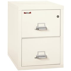 "Vertical File Cabinet, 2 Drawer Legal  31 1/2"" depth, Ivory White"