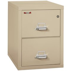 "Vertical File Cabinet, 2 Drawer Legal  31 1/2"" depth, Parchment"