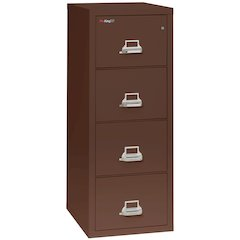 "4 Drawer Letter Size Filling Cabinet,  25"" depth, Brown"