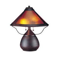 "17"" Height Metal Table Lamp in Rust"