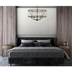 40W X 5 Modica Metal Pendant Fixture (Edison Bulbs Not Included)