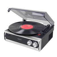 3 Speed Stereo Turntable with Built In Speakers and Speed Adjustment