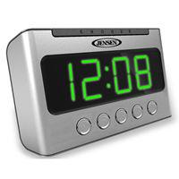 AM/FM Dual Alarm Clock Radio with Wave Sensor