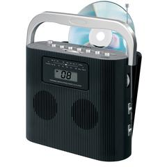 Stereo CD Player with AM/FM; Vertical Loading CD Player