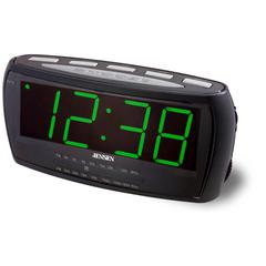 "AM/FM Alarm Clock Radio with 1.8"" Green LED Display"