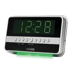 AM/FM Dual Alarm Clock Radio with Wave Sensor