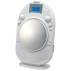 Jensen AM/FM Stereo Shower Radio and CDPlayer with Fog Resistant Mirror
