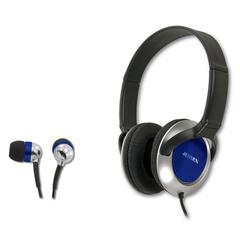 Jensen Stereo Headphone and Earbud Combo