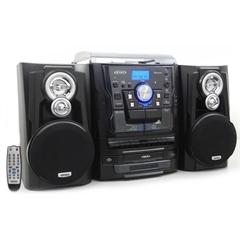 Jensen Bluetooth 3 Speed Stereo Turntable, 3 CD Changer
