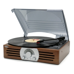 Jensen 3 Speed Stereo Turntable with Dust Cover