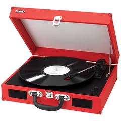 Jensen Portable 3 Speed Stereo Turntable with Built In Speakers