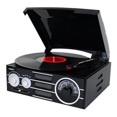 Jensen 3 Speed Stereo Turntable with AM/FM Radio