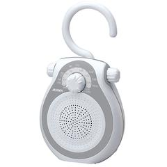 AM/FM Shower Radio, Splash Resistant Cabinet