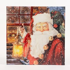 Santa Canvas Print with LED Light