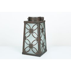 Square Metal Lantern Solar Light