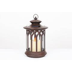 Round Lantern with Candle Solar Light