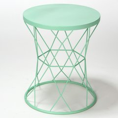 "15.9"" Indoor/Outdoor Turquoise Table and Plant Stand"