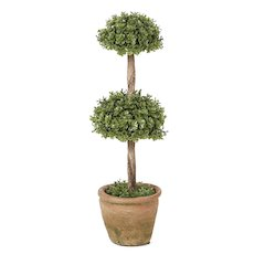 "Orchid Double Treetop Topiary 13""H"
