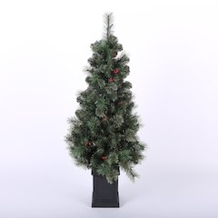 4ft Cashmere Mixed Porch Tree with Lights