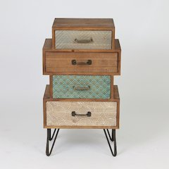 Chic Four Drawer Cabinet End Table