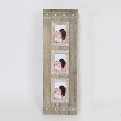 "Rustic Three 4"" x 6"" Collage Picture Frame"