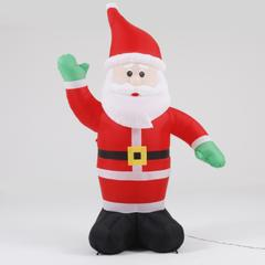 8Ft Santa Inflatable with Flashing Disco LED Lights