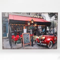 Fresco Café and Car Print with LED Lights