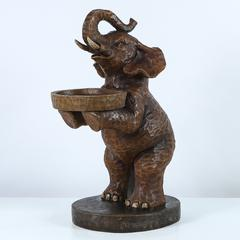 27.6in. H Polyresin Elephant Holding Platter Side Table