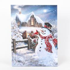 Winter Wonderland Snowman Print with LED Lights