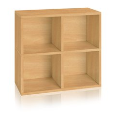 Eco Friendly 4 Cubby (New Quad Cube), Natural