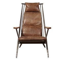 Brenna Metal Frame Accent Chair