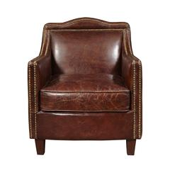 Danielle Leather Accent Chair