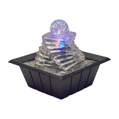 "8""H Table Fountain With Light"
