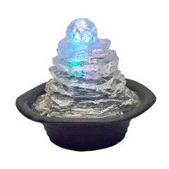"7.50""H Table Fountain With Light"