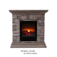 Fireplace With Faux Stone (Light) -Petite