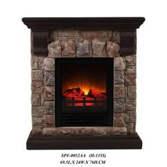 Fireplace With Faux Stone (Dark) -Petite