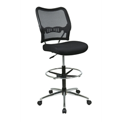 Office Star Deluxe AirGrid® Back Drafting Chair with Mesh Seat