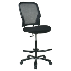 Office Star Big Man's Dark AirGrid® Back with Black Mesh Seat Double Layer Seat  Drafting Chair (No Arms)