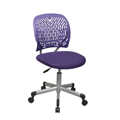 Office Star Designer Task Chair in Purple Fabric and Plastic Back